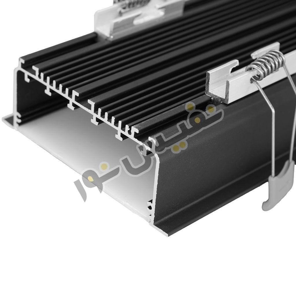 خرید و قیمت چراغ خطی لاینی linear لاینر ال ای دی LED توکار آلومینیوم 36 وات نفیس نور