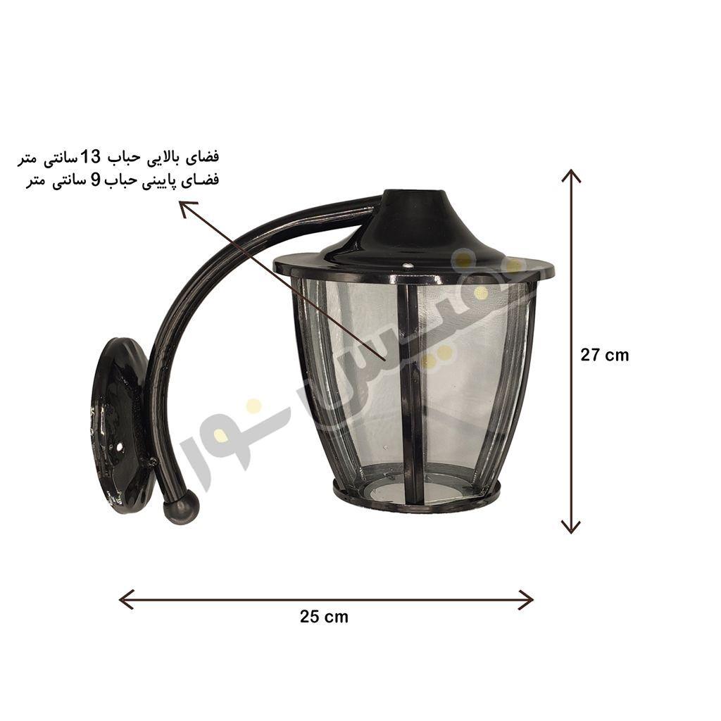 خرید و قیمت چراغ حیاطی و پارکی دیواری فلزی ارزان مدل OL25-D