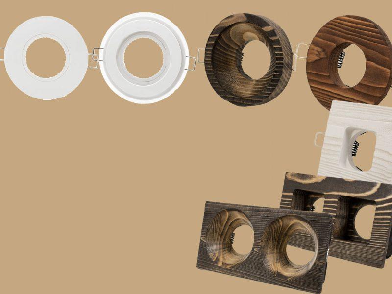 قاب های هالوژن چوبی و پلاستیکی