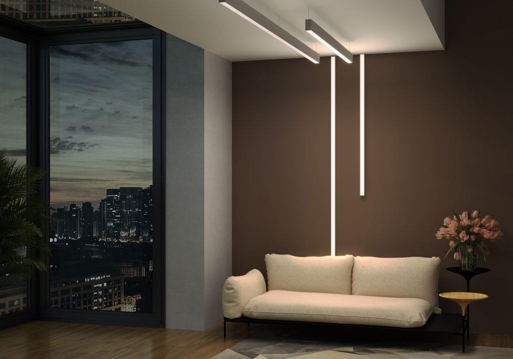 نورپردازی با چراغ خطی یا لاینی