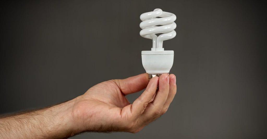 لامپ کم مصرف نیم پیچ